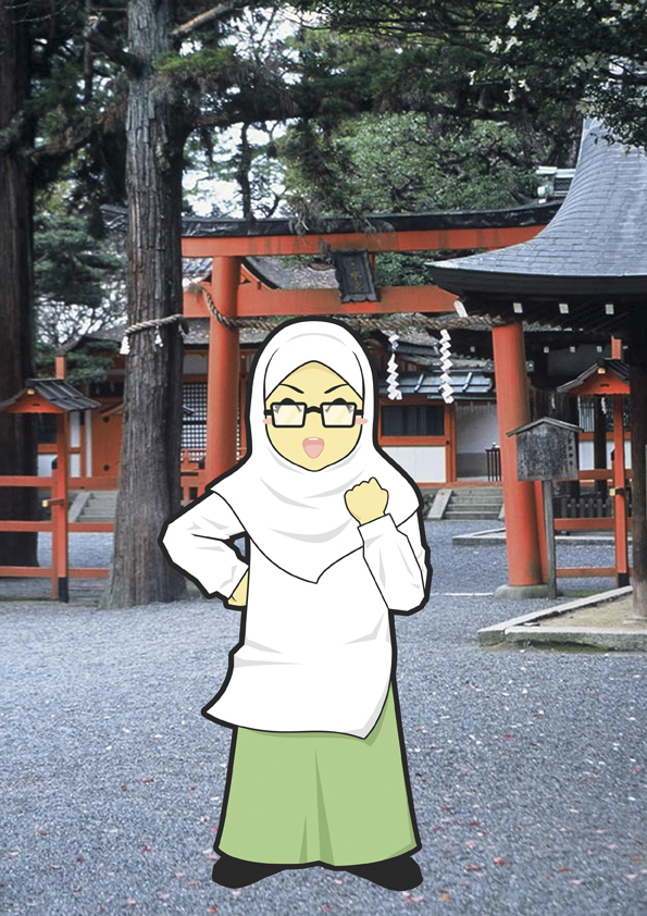 Frieska Amartya Dewi | Background: Kuil Yoshida, Kyoto
